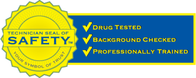 Technician seal of safety logo